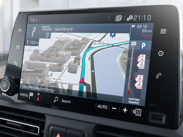 All-new Peugeot Rifter navigation and maps