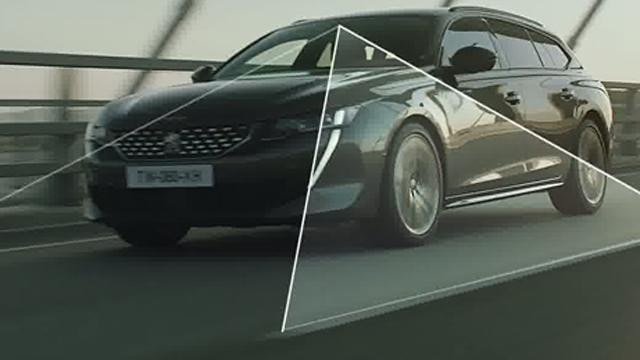 Semi-autonomous driving technology featuring Adaptive Cruise Control with Stop & Go and Lane Positioning Assist - the new PEUGEOT 508 SW estate for business customers