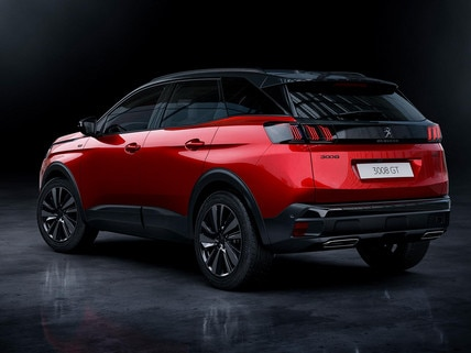 New PEUGEOT 3008 SUV - Black pack rear view option