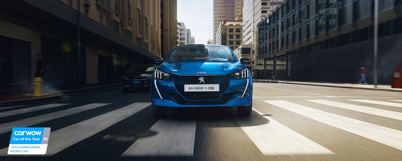 ALL-NEW PEUGEOT e-208 – New electric city car and front end